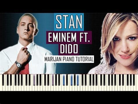 eminem feat dido how to play eminem ft dido stan piano tutorial