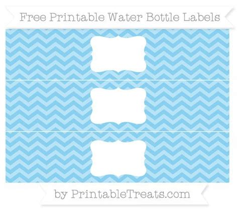 Free Baby Blue Chevron Water Bottle Labels Baby Shower