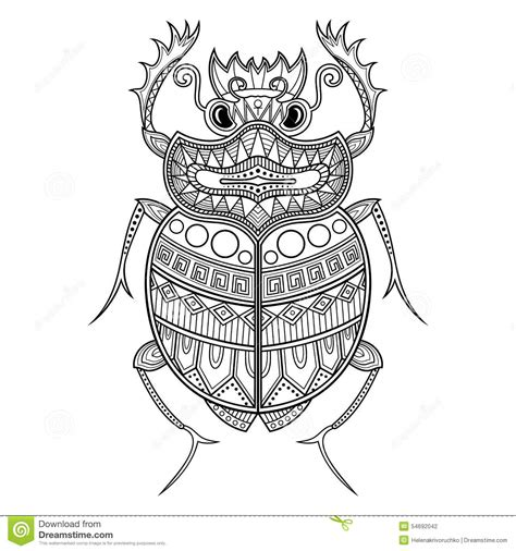 vector scarab beetle stock vector image 54692042