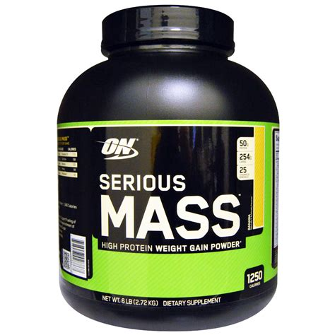 On Serious Mass Optimum Nutrition Serious Mass High Protein Weight Gain