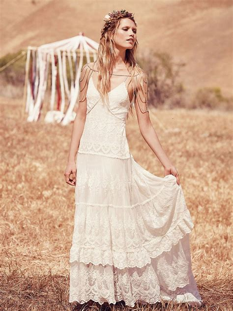 boho wedding dresses  peoples wedding dress