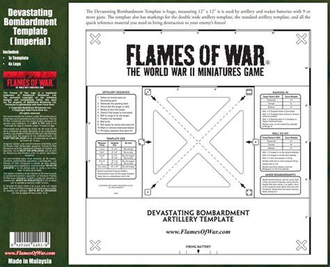flames of war artillery template hobby