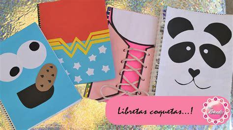 ideas para forrar libretas decora tus cuadernos 4 ideas youtube