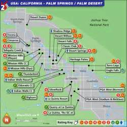 palm springs golf map usa top 100 golf courses and resorts
