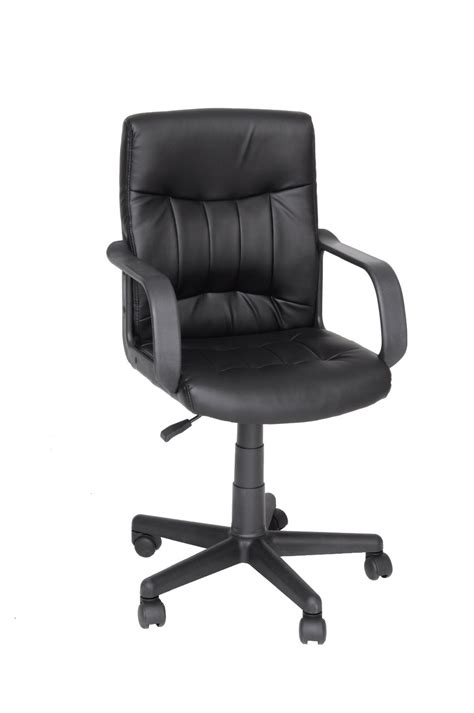 Cream Coloured Pu Pvc Cover Task Computer Chair With Swivel Lift Chair