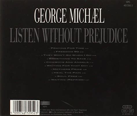 Cd George Michael Listen Without Prejudice listen without prejudice