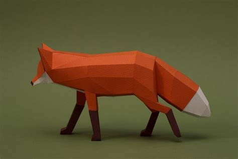Folded Paper Animals - paper made wildlife sculptures origami animals