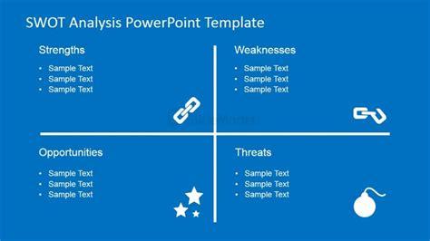 swot analysis powerpoint chart slidemodel