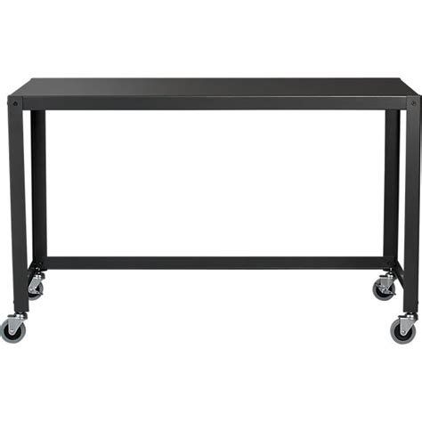 go cart rolling desk go cart carbon rolling desk cb2