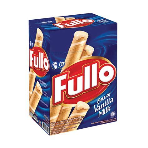 Fullo Wafer Roll Isi 24pcs jual fullo vanilla 9 5 gr 2 box harga