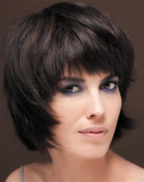 chin length shaggy hairstyles with bangs chin length layered haircut pictures hairstylegalleries com