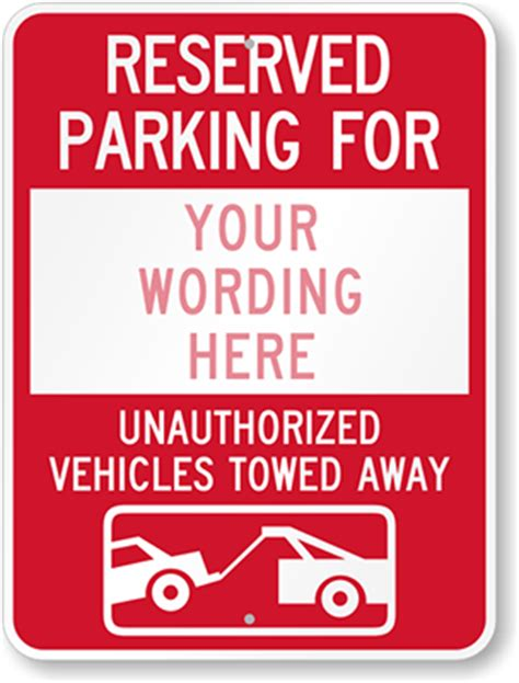 reserved parking template custom traffic signs 100 s of templates