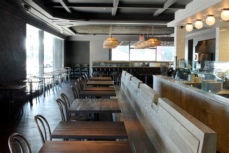 cafe bench seating restaurant cole garrison archinect