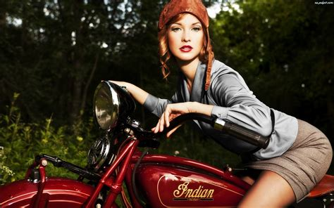 wallpaper girl motorcycle girl on a indian retro motorcycle wallpapers and images