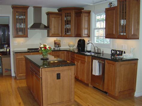 maple cabinets with granite countertops maple cabinets with black countertops kitchy