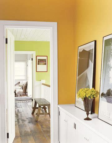 bright green  orange farmhouse