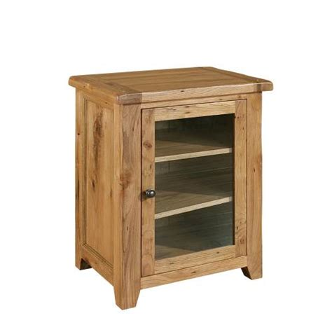 Wooden Hifi Cabinet by Rumi Solid Oak Furniture Hi Fi Stereo Cabinet Storage