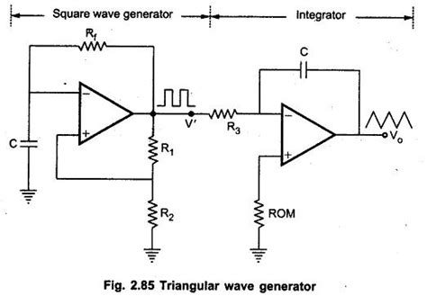 integrator circuit square wave triangular wave generator using op eeeguide