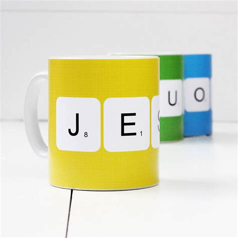 scrabble mugs personalised scrabble mug by a of