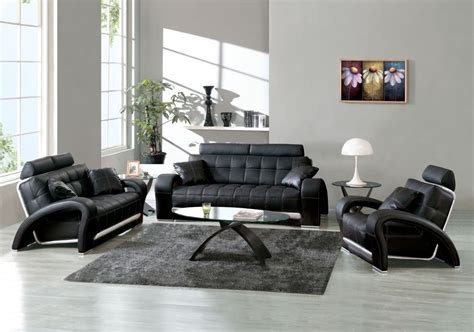 living room design ideas  modern black leather