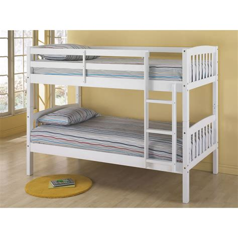 white wooden bunk beds dorel belmont twin bunk bed white