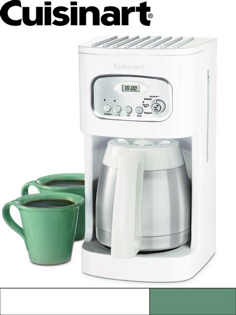 Coffee Maker Manual cuisinart 10 cup coffee maker manual