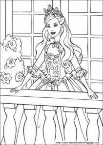 Barbie And Princess Coloring Pages {free Printable}  Tip Junkie sketch template