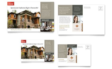free open house post card templates free postcard template word publisher templates