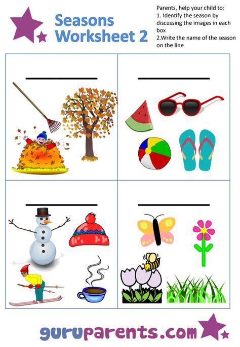 kindergarten activities on seasons seasons worksheets guruparents