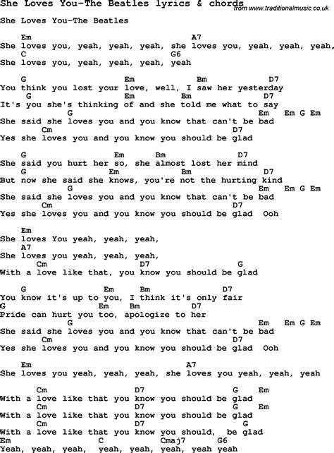 the song testo beatles songs