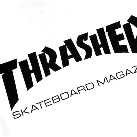 Thrasher White skate mag logo l s t shirt in white black by thrasher
