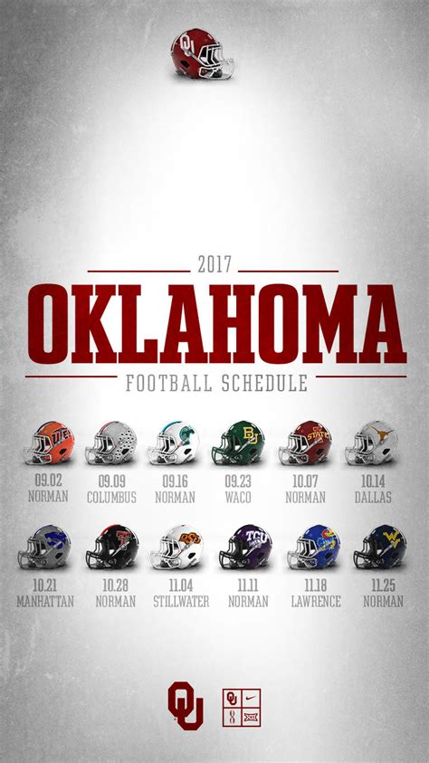 Ou Mba 2nd Sem Tickets 2017 by Ou S 2017 Big 12 Football Schedule Announced Oklahoma