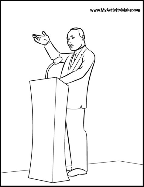 coloring page martin luther king jr martin luther king jr coloring pages many interesting cliparts
