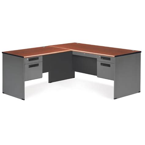 Cherry L Shaped Desk by Ofm Executive L Shaped Desk Shell In Cherry 77366 L Chy
