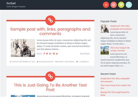 blog themes with ad space sorbet responsive blogger template blogspot templates 2018