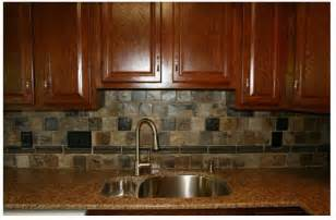 Slate Backsplash Tiles For Kitchen here s a beautiful slate tile backsplash that compliments the dark