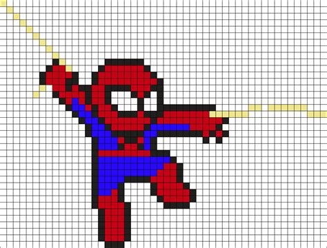 spiderman perler pattern spiderman perler bead pattern bead sprites characters