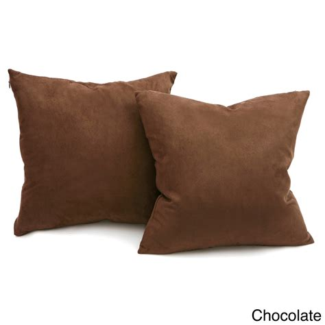 down throw pillows for couch deluxe comfort microsuede decorative couch pillows