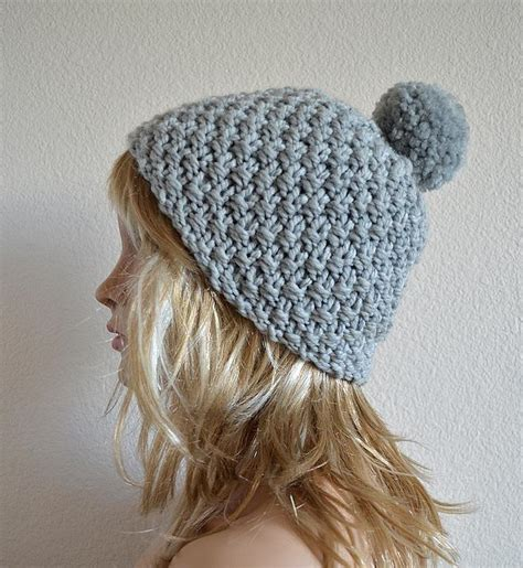 pom pom beanie knitting pattern knit and purl patterns for beginner knitters