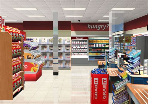 supermarket display layout convenience store layout store layout exle