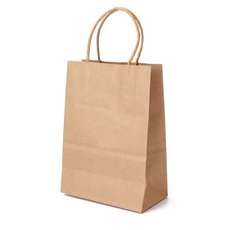 How To Make A Brown Paper Bag - kraft brown twisted handle shopping gift merchandise paper