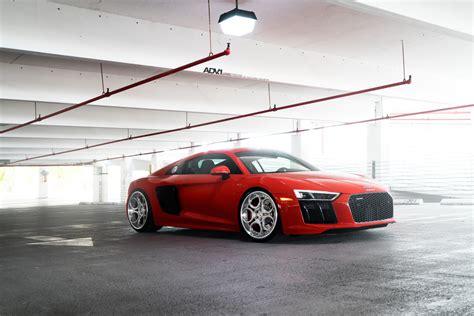audi r8 modified red audi r8 adv05c track spec cs series wheels adv 1