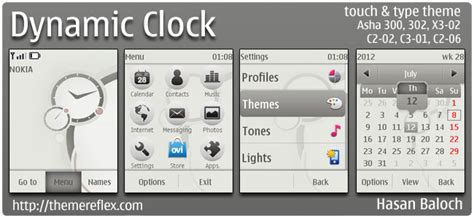 free themes for nokia c2 02 touch and type dynamic clock theme for nokia asha 303 x3 02 c2 02