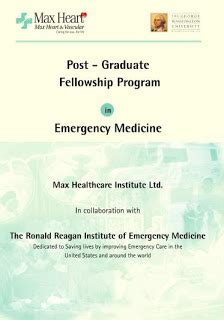 Emergency Medicine Mba Fellowship by Max Emergency Medicine Interest Memig India S