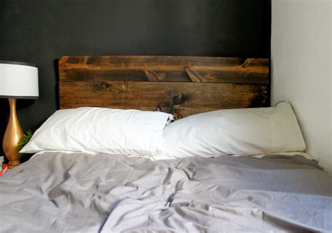 I Made The Headboard From The Yhl Book For Under 25 And A Rustic Headboard