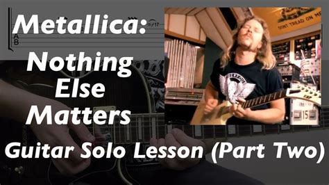 nothing else matters lesson metallica nothing else matters lesson part two
