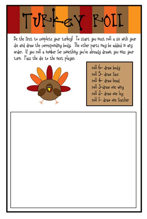 printable roll a turkey like a pretty petunia the gratitude project fun and games