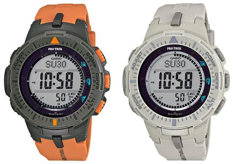 Casio G Shock Prg 270 new pro trek usa releases prg300 4 and prg300 8 g