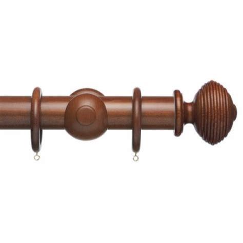 mahogany curtain pole advent 35mm curtain pole medium mahogany with reeded ball