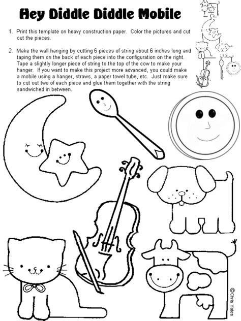 pattern lyrics puppets 5 best images of printable hey diddle diddle activities